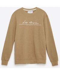 Zara | Cotton Sweatshirt | Lyst