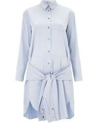 T By Alexander Wang Cotton Poplin Shirt Dress - Lyst
