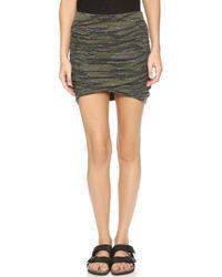 Pam & Gela - Ruched Miniskirt - Camo - Lyst