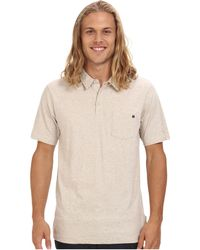 Rip Curl Beige Interview Polo - Lyst
