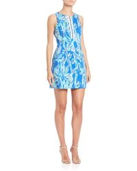 Lilly Pulitzer Penelope Cotton Shift Dress blue - Lyst