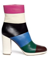Valentino | Bo-y-ch Striped Lambskin Ankle Boots | Lyst