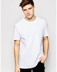 Another Influence Longline Plain T-shirt - White