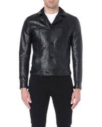 Saint Laurent Leather Blouson Jacket Black - Lyst
