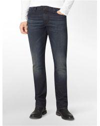 Calvin Klein Modern Boot Indigo Fuse Wash Denim Jeans - Lyst