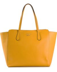 Gucci Yellow Swing Tote - Lyst