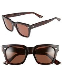 Gucci '1099S' 50Mm Retro Sunglasses - Spotted Blond Havana/ Green - Lyst