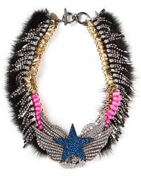 Venna - Embellished Star Collar Necklace - Lyst