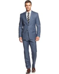 Michael Kors Michael New Blue Sharkskin Suit - Lyst