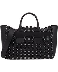 Paco Rabanne 14#01 Cabas Small Tote black - Lyst