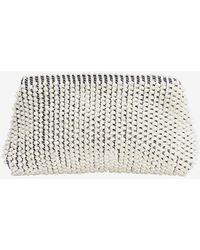 Antonello - Zipper Cotton Clutch: White - Lyst