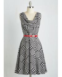 ModCloth | Computer Tutor Dress In Houndstooth | Lyst