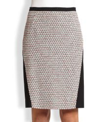 Piazza Sempione Compact Jersey & Tweed Pencil Skirt - Lyst
