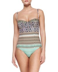 Camilla Mixed-Print Underwired One-Piece Swimsuit - Lyst
