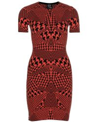 McQ by Alexander McQueen Intarsia Stretch Knit Dress - Lyst