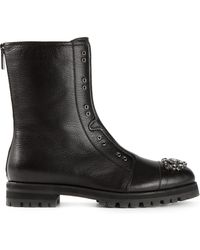 Jimmy Choo Black Hatcher Boots - Lyst