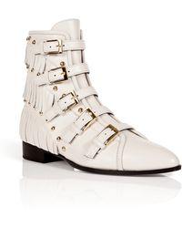 Giuseppe Zanotti Leather Studded Jeti Ankle Boots - Lyst