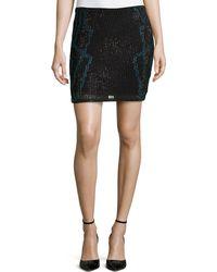 Haute Hippie Bejeweled Silk Skirt - Lyst