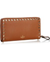 Valentino - Rockstud Large Leather Wallet - Lyst