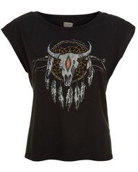 Denim & Supply Ralph Lauren Skull Dreamcatcher Tee - Black