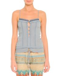 Etro Lace-trim Beaded Camisole - Lyst