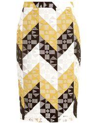 A.L.C. Henri Geometric-Lace Pencil Skirt - Lyst