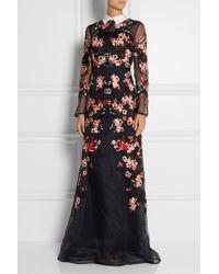 Erdem Suri Embroidered Silkorganza Gown - Lyst