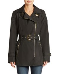 Michael Kors Asymmetrical Belted Trench Coat - Lyst