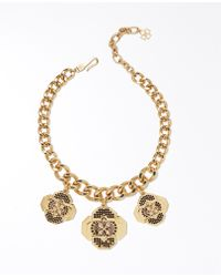 Ann Taylor Gold Medallion Necklace - Lyst