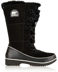 Sorel Tivoli High Ii Waterproof Suede and Leather Boots - Lyst