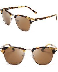 Tom Ford Henry Wayfarer Sunglasses, 51mm - Brown