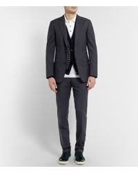 Lanvin Navy Attitude Slim-fit Wool Suit - Lyst