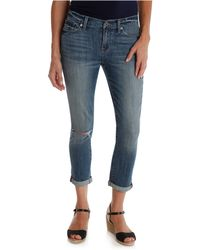 Lucky Brand Skinny Leg Cropped Jeans - Lyst