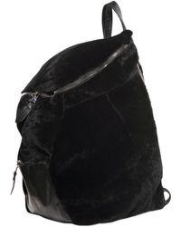 Giorgio Brato Shearling & Nappa Leather Backpack - Black