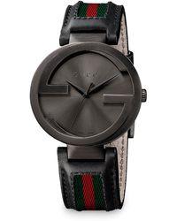 Gucci Interlocking G Pvd Watch - Lyst