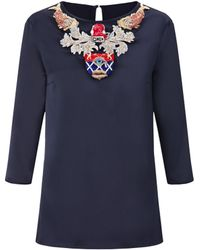 Mary Katrantzou Spellbound Top Embroidered  - Lyst