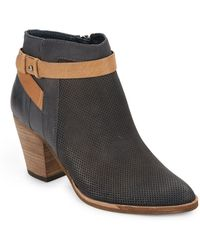 Dolce Vita Perforated Leather Ankle Boots - Lyst