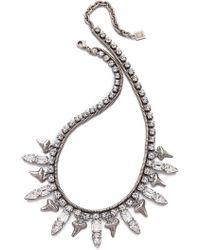 DANNIJO - Tisdale Necklace - Silver/Crystal - Lyst