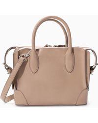 Zara Gussetted Shopper Bag - Lyst