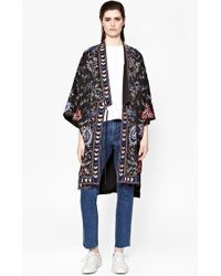 French Connection Micheala Stitch Embroided Kimono multicolor - Lyst