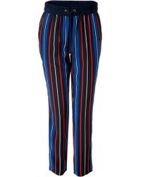 Juicy Couture - Silk Striped Carley Pants - Lyst