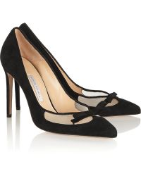Bionda Castana Beatrix Suede and Mesh Pumps - Lyst