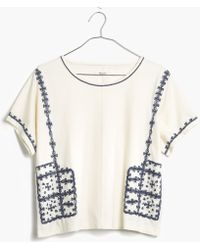 Madewell Embroidered Short-Sleeve Tee white - Lyst