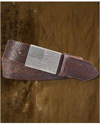 Denim & Supply Ralph Lauren - Leather Flagbuckle Belt - Lyst