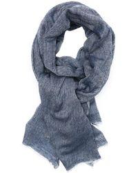 Beck Sondergaard Denim Blue Wool Woven Scarf - Lyst