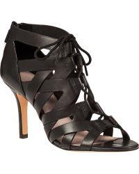 Pour La Victoire Camila Lace-Up Bootie Black Leather - Lyst