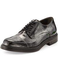 John Varvatos Patrick Metallic Derby Shoe - Lyst