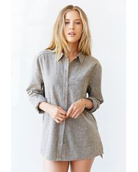 BDG Linen Button-Down Shirt - Lyst