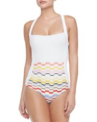 Missoni Multicolor Waves One-piece Swimsuit - Lyst
