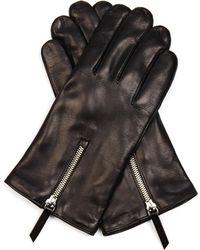 Want Les Essentiels De La Vie Mozart Zip-Detail Leather Gloves - Black